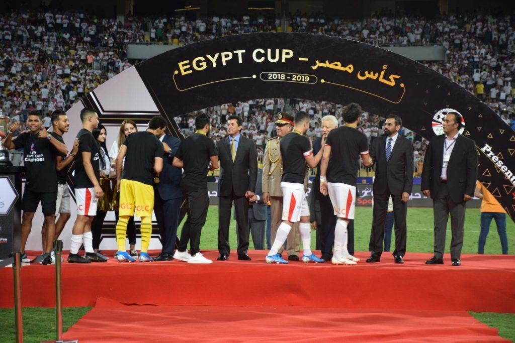 وزير الرياضة يشهد نهائي كأس مصر ويتوج الزمالك بطلا للمرة 27 في
